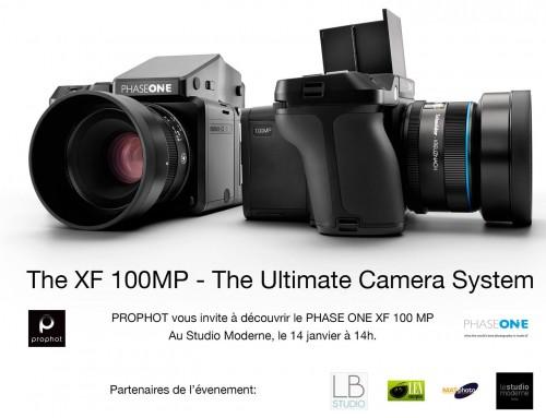 Prophot présente le système PHASE ONE XF 100 MP